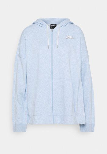 HOODIE EARTH DAY - Sweater met rits - light armory blue/heater/white