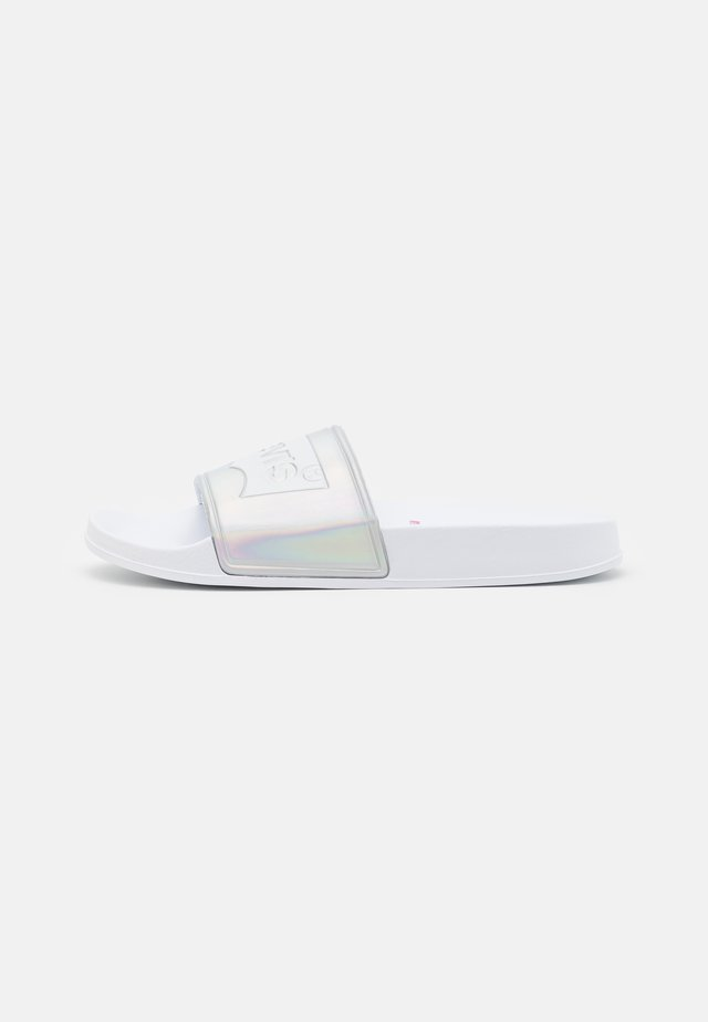 POOL UNISEX - Mules - white/silver
