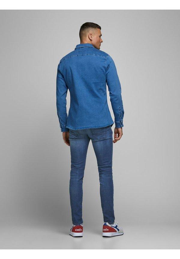 Jack & Jones JEANS GLENN ROCK BL 894 LID - Jeansy Slim Fit - blue denim/niebieski denim Odzież Męska HVEW
