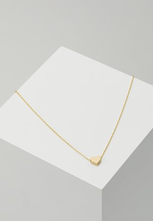 THREAD THRU HEART NECKLACE - Necklace - pale gold-coloured