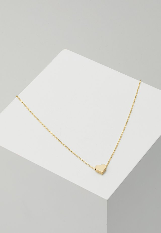 THREAD THRU HEART NECKLACE - Halsband - pale gold-coloured