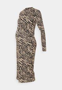MLSAIDY DRESS - Jersey dress - black/oatmeal
