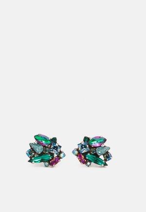ABEGAIL - Earrings - blue/green/dark rose
