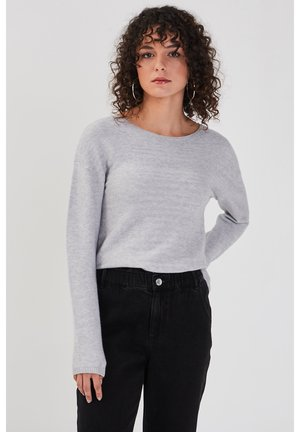MIT REISSVERSCHLUSS HINTE - Sweter - gris clair