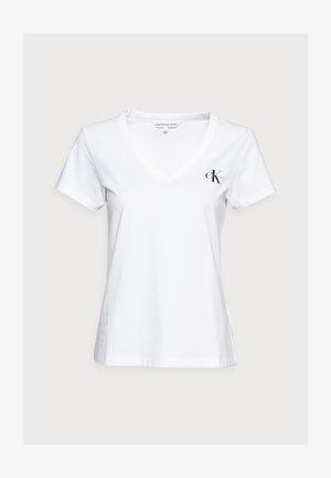 MONOGRAM SLIM V-NECK TEE - Basic T-shirt - white