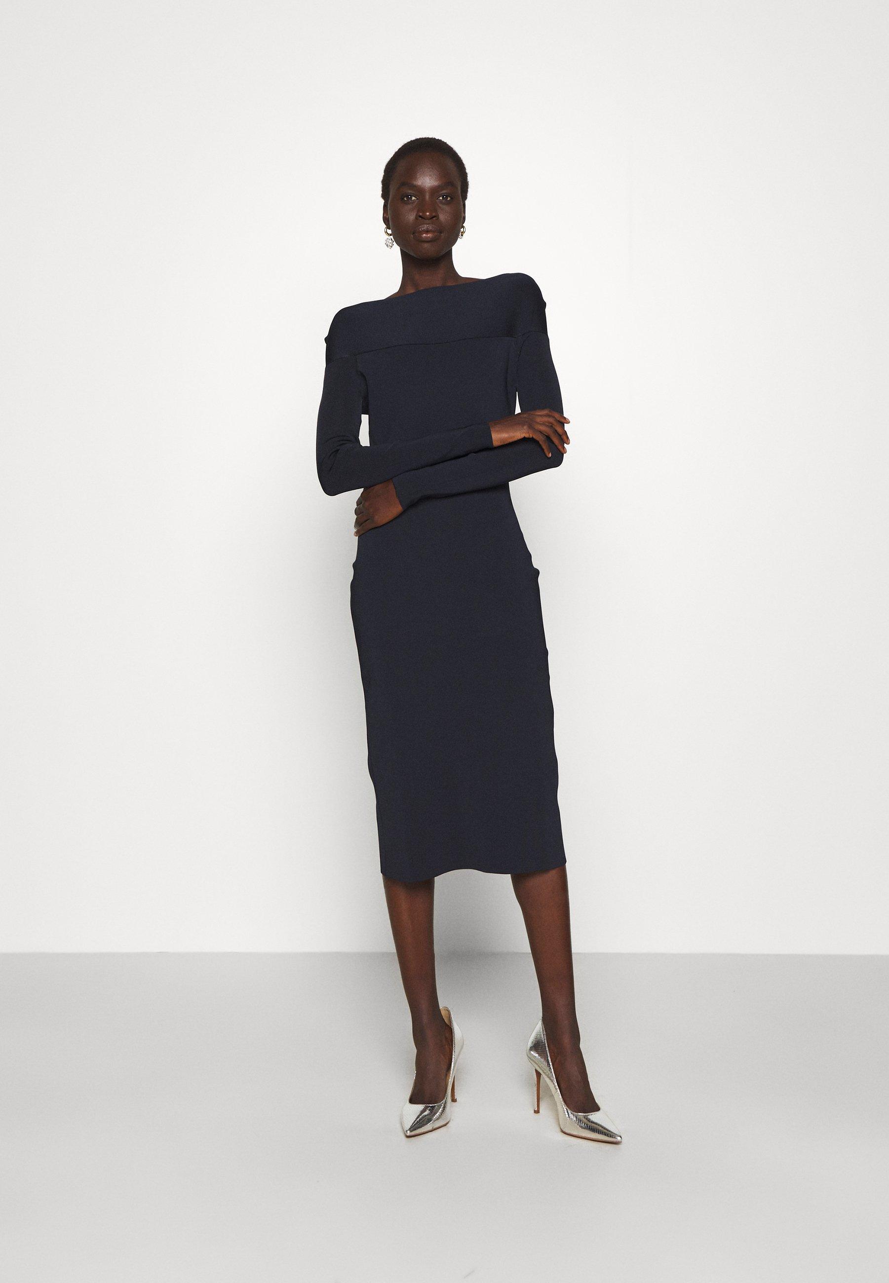 Damen SCOOPED BACK LONG SLEEVE DRESS - Strickkleid