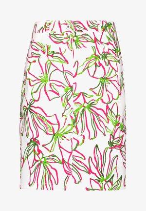 A-line skirt - weiß azalea palm druck
