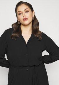 Vero Moda Curve - VMSAGA DRESS  - Shirt dress - black - 3
