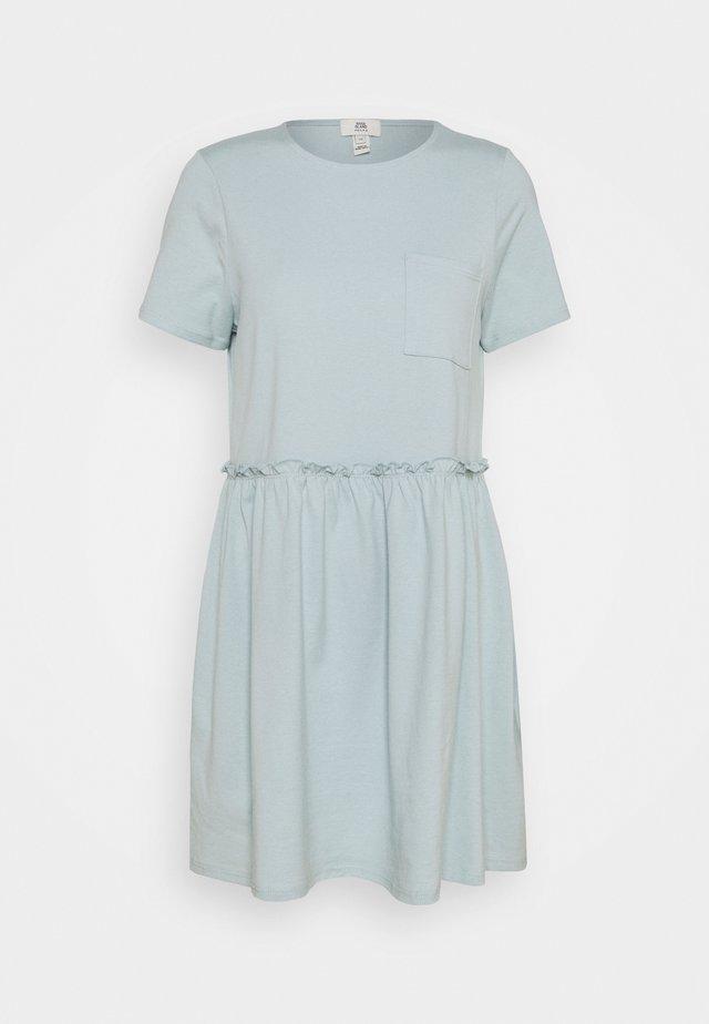 Žerzejové šaty - light blue
