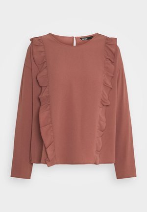 ONLNINNA RUFFLE - Long sleeved top - apple butter
