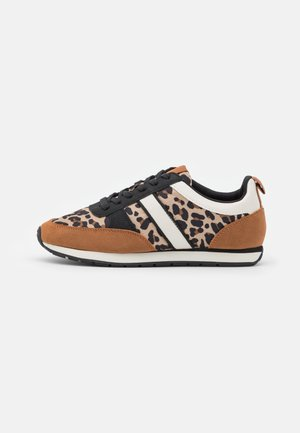 Sneakers laag - brown mix