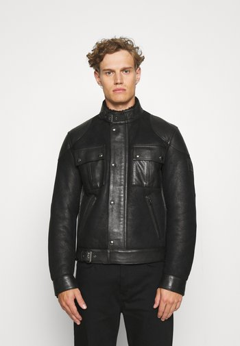 GANGSTER - Leather jacket - black