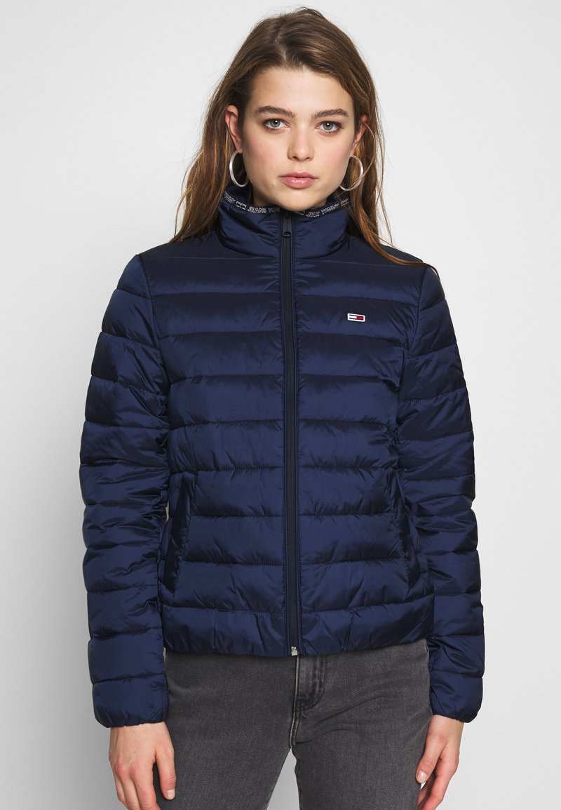Tommy Jeans - QUILTED ZIP THRU - Light jacket - twilight navy