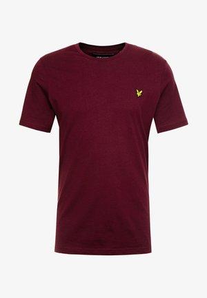 CREW NECK  - Jednoduché triko - burgundy