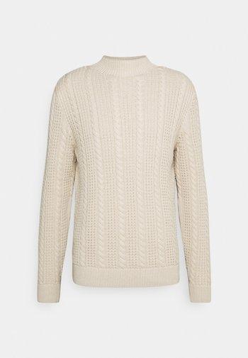CABLE STRUCTURE MIX - Maglione - soft beige melange