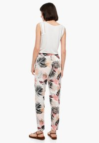 s.Oliver - Trousers - off-white aop - 2