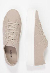 Victoria Shoes - BASKET LONA PLATAFORMA - Trainers - beige - 3