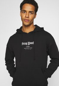 Jack & Jones - JORSTRAY HOOD - Sweatshirt - black - 3