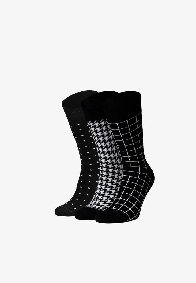 ANALYSIS 3 PACK - Socks - schwarz, weiß