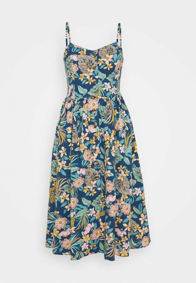 BUTTON DRESS - Korte jurk - navy