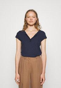 Mos Mosh - TROY TEE - Basic T-shirt - navy - 0