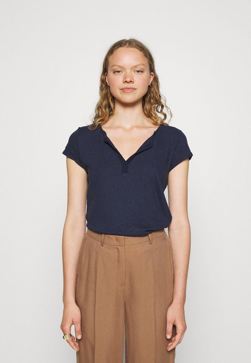 Mos Mosh - TROY TEE - Basic T-shirt - navy