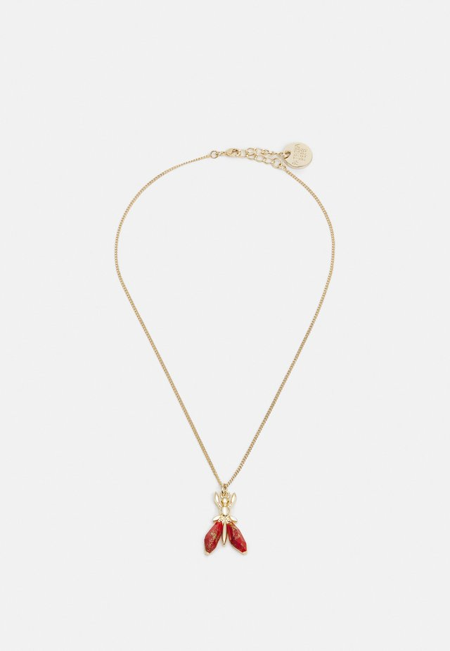 COLLANA PRECIOUS FLY MINI - Necklace - marble red
