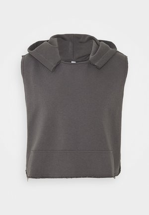 UNISEX SLEEVELESS HOODIE - Sweat à capuche - black