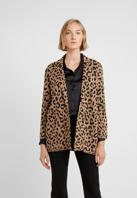J.CREW - LEOPARD SOPHIE - Kardigan - heather acorn/black - 0