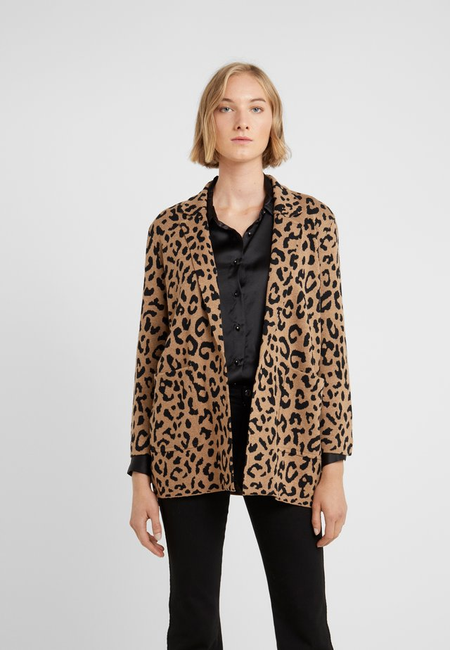 LEOPARD SOPHIE - Strickjacke - heather acorn/black