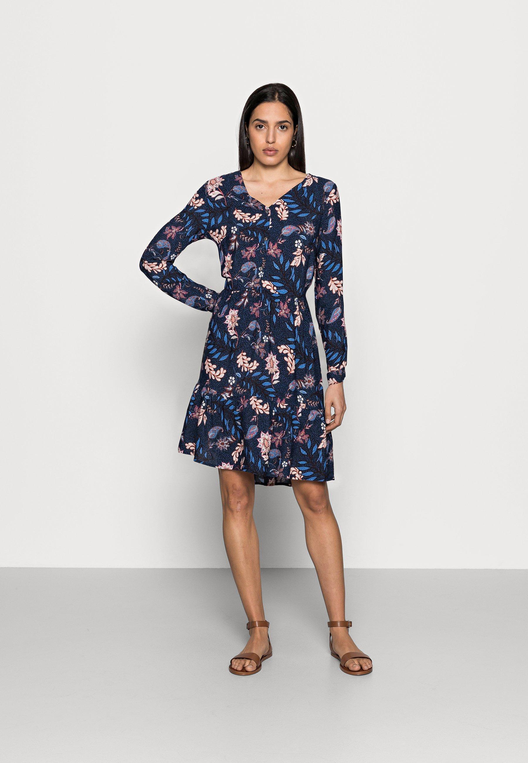 Damen DRESS WITH FLOUNCE - Freizeitkleid