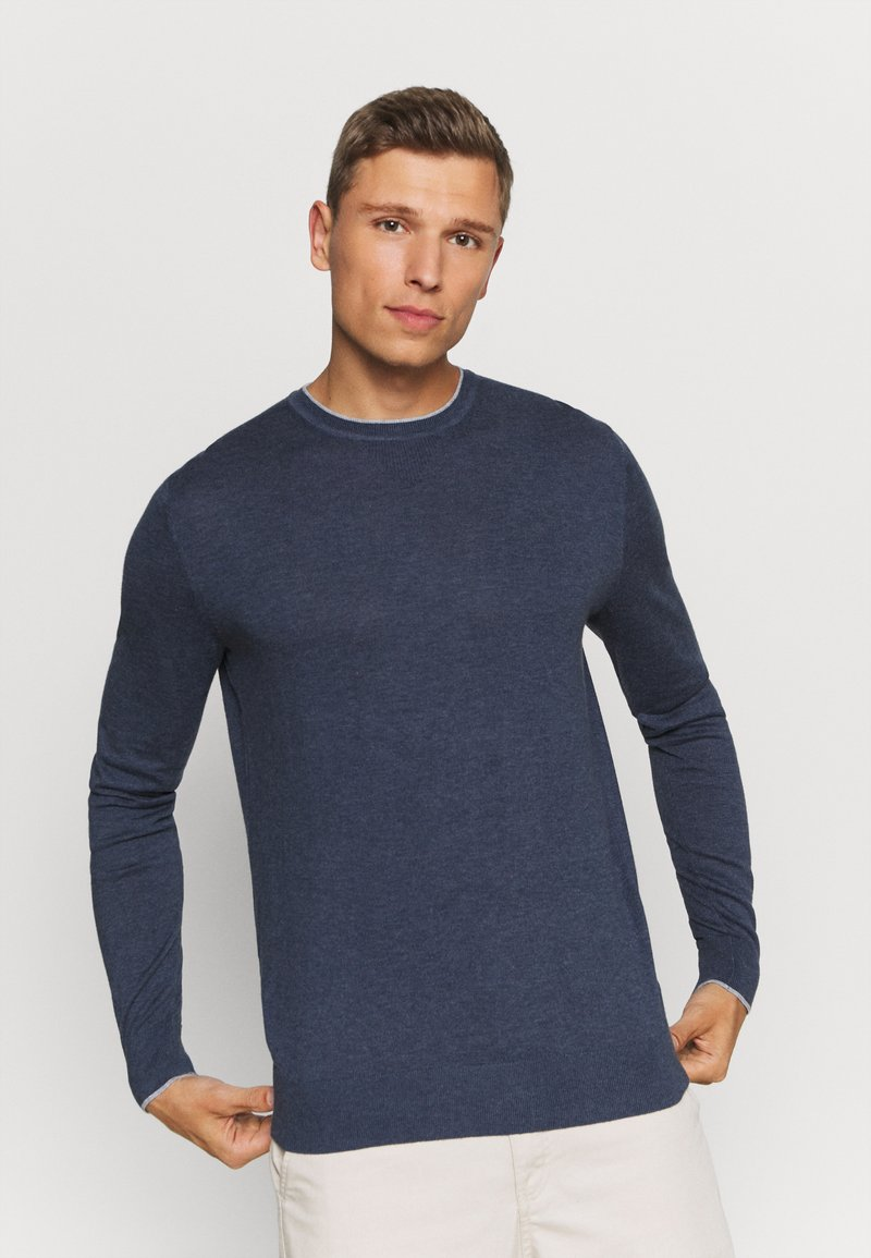 Tommy Hilfiger Tailored - CONTRAST DETAIL C NECK - Jumper - blue