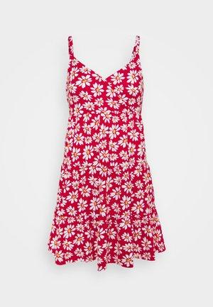 BARE DRESS - Vestito di maglina - red daisy