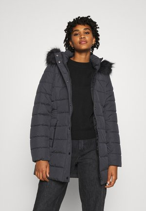 Winter coat - dark grey melange