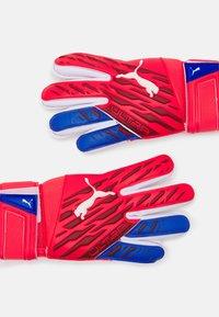 Puma - ULTRA GRIP JUNIOR UNISEX - Goalkeeping gloves - sunblaze white/bluemazing - 1
