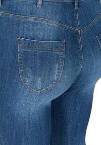 Zizzi - MIT SCHLITZDETAILS - Slim fit jeans - blue - 4