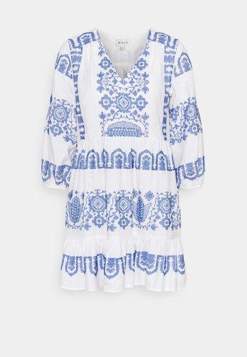 DEBBIE DRESS - Jurk - white/blue