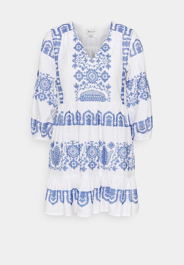 DEBBIE DRESS - Day dress - white/blue