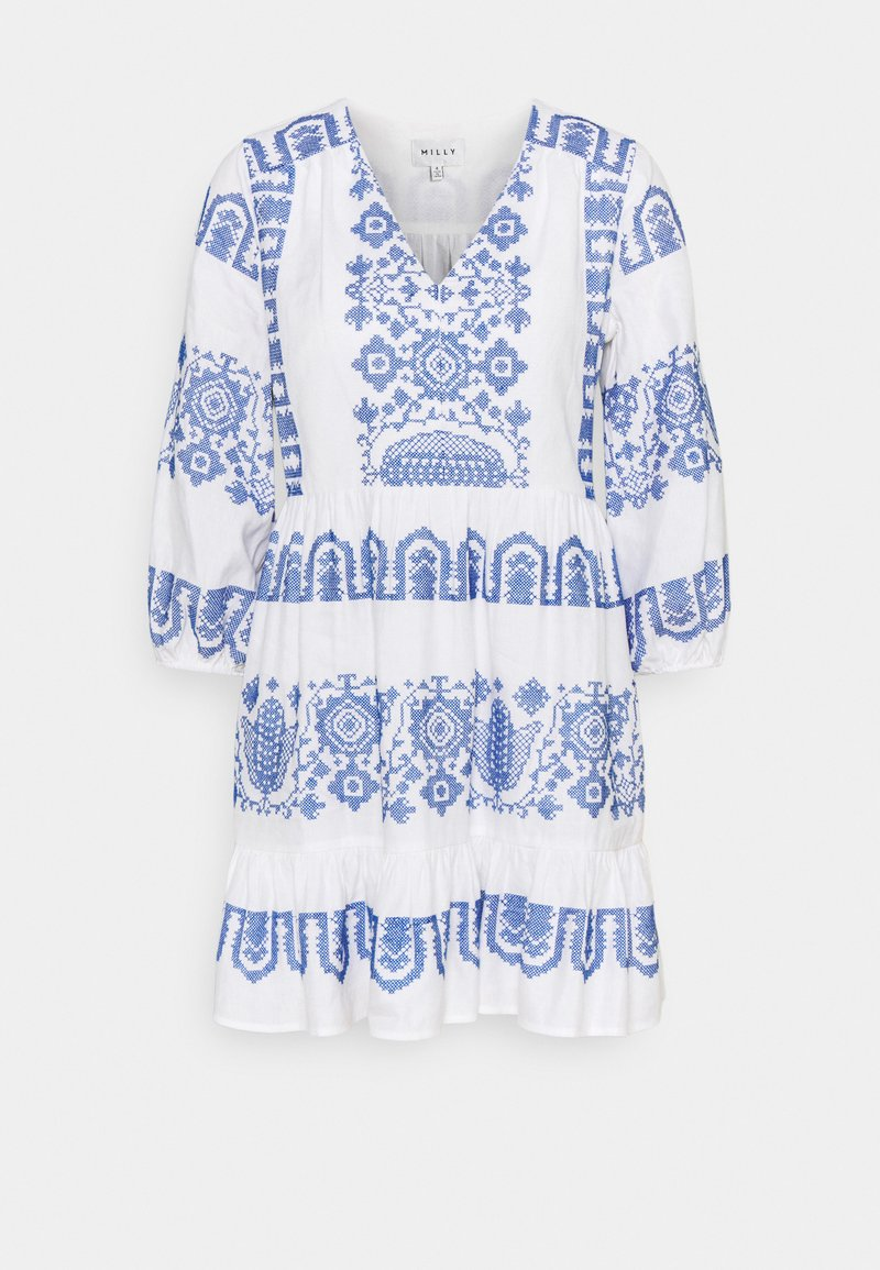 Milly - DEBBIE DRESS - Jurk - white/blue