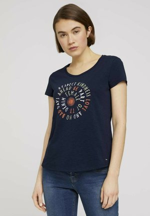 T-shirt z nadrukiem - real navy blue