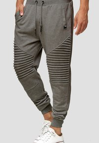 INDICODE JEANS - Tracksuit bottoms - anthracite - 2