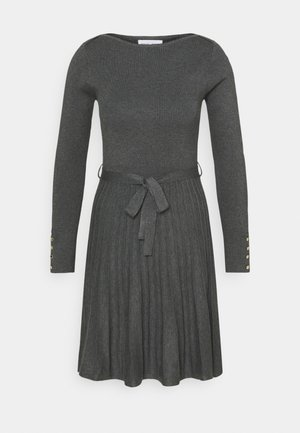 DRESS ERIN - Jumper dress - dark grey melange