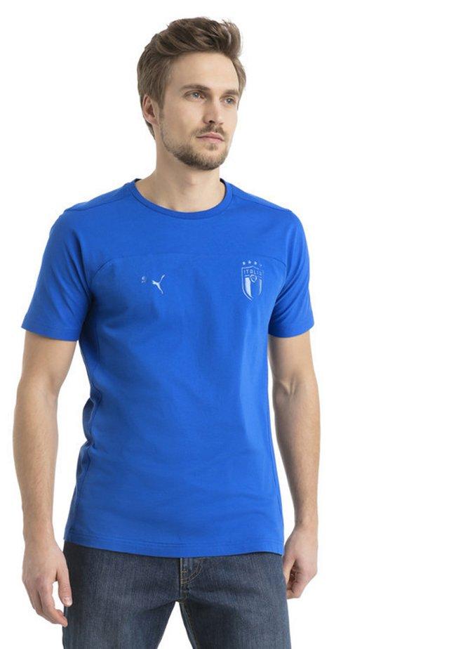 FIGC MEN'S TEE MÄNNER - T-shirt con stampa - blue