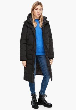 Winter coat - black melange
