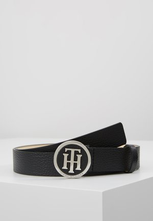 ROUND BUCKLE BELT - Pásek - black