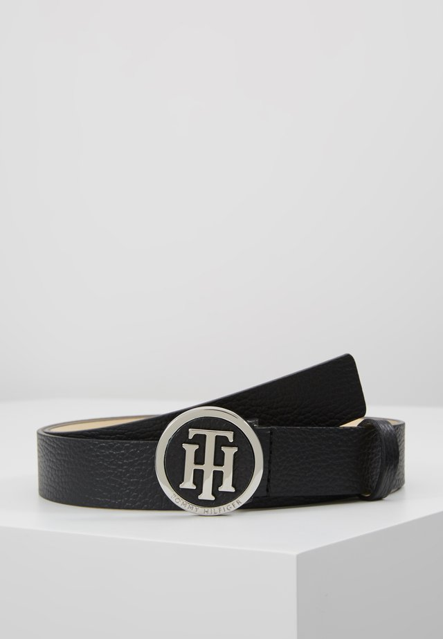 ROUND BUCKLE BELT - Cinturón - black