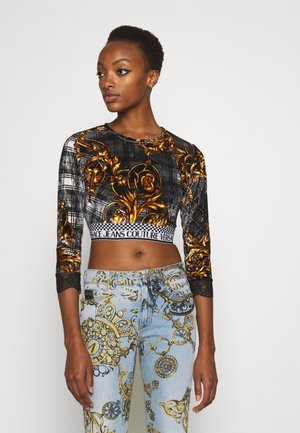 Long sleeved top - brown/gold