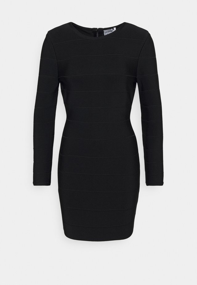 ICON LONG SLEEVE DRESS - Shift dress - black