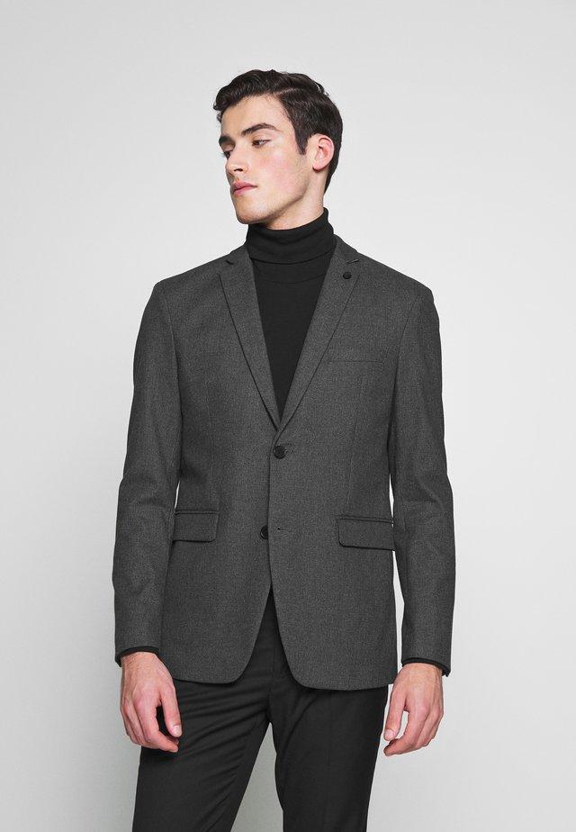 BRUSHED H-TOOTH - Blazer - dark grey