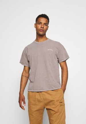 LOGO EMBROIDERED TEE UNISEX - T-Shirt basic - stone